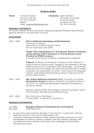 Researcher Resume Sample by Cvs Resume Example