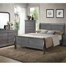 solid wood sleigh bedroom set gray from mc furniture store