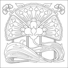 20 free printable art deco patterns coloring pages for adults