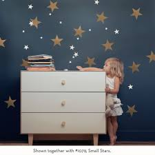 large stars wall decal