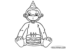 sock monkey coloring pages printable birthday monkey coloring
