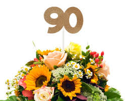90th Birthday Centerpiece Ideas by 90th Birthday Party Etsy