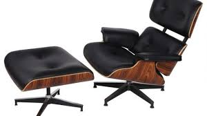 Amazing Tall Eames Lounge Chair Ottoman Black Leather Santos