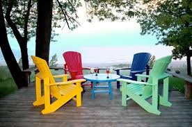 Vintage Adirondack Chairs Vintage Outdoor Deck With Painted Old Wooden Decks And Recycled