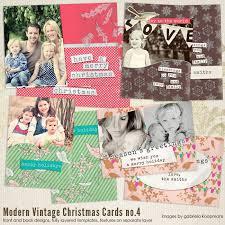 modern vintage christmas card templates for photographers 7th