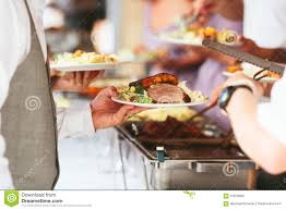 Cold Dinner Full Dinner Plate At Wedding Reception Stock Photo Image 61878682