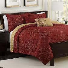 medallion reversible quilt set in claret gifts i d like