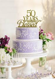 wedding cake accessories aliexpress buy 50 years blessed acrylic glitter gold wedding