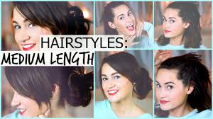 Quick And Easy Hairstyles For Medium Length Hair Quick U0026 Easy Hairstyles For Summer Medium Length Youtube