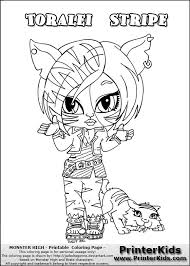 monster high chibi coloring pages monster high monster high toralei coloring pages get coloring pages