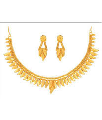 gold jewellery necklace sets images Anjali jewellers golden necklace set buy anjali jewellers golden jpg