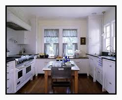White Kitchen Curtains by Kitchen With Blue And White Checked Curtains Content In A Cottage