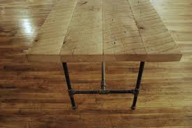 Reclaimed Wood And Iron Dining Table Dining Table Fancy Rustic Dining Room Decoration Using