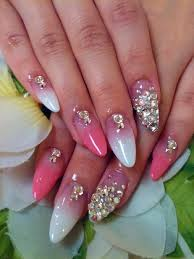 acrylic nail designs with rhinestones nail designs
