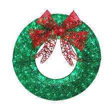 led christmas wreaths u2013 happy holidays