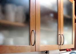 kitchen brown wooden small cabinets with transparent glass doors