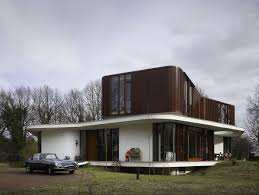 architecture retro futuristic house ideas come with curve shape