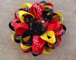 mickey mouse hair bow one christmas disney hair bow mickey mouse hair bow minnie
