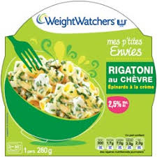 plat cuisiné weight watchers weight watchers rigatoni chèvre épinards 280 g auchan direct