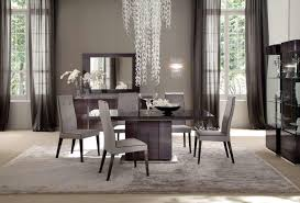 grey and white dining room with glass chandelier throughout grey and white dining room