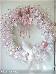 Pink And Pearl Christmas Decorations bb pastel trio ornament tree christmas tree and shabby chic