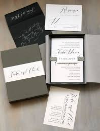 boxed wedding invitations black script customizable modern boxed wedding invitations
