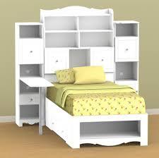 White Bookshelf Headboard by White Bookcase Storage Bed U2014 Modern Storage Twin Bed Design