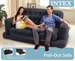 Sofa Bed With Inflatable Mattress by Intex Inflatable Pull Out Sofa And Queen Air Mattress