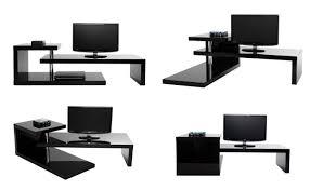 bureau design noir laqué meuble tv d angle noir laqué sellingstg com