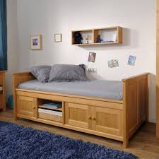 Timber Bookshelf Toddler Bed With Storage Wooden In Natural Finished Wonderful Best