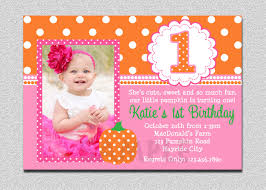 Halloween Birthday Invitations by 1st Birthday Invitations Free Template Baby U0027s 1st