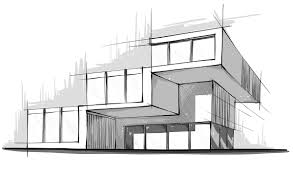 amazing modern architecture sketch with sketch of commercial building