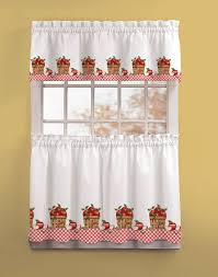 White And Red Kitchen Curtains by Luxury White Lace Kitchen Curtains Taste
