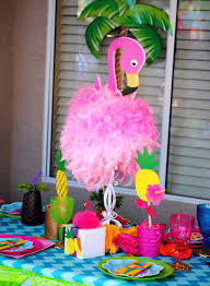 luau table centerpieces flamingo party flamingo birthday pineapple luau party flamingo
