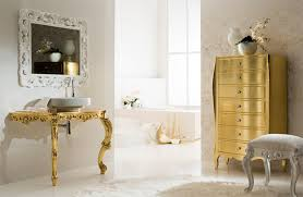 white and gold bathroom home design