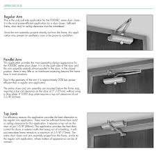 norton 9303bch fixed size 3 closer with hold open arm soffit