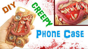 diy creepy monster phone case polymer clay u0026 resin tutorial