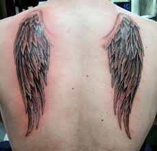 beautiful wing on back for tattoomagz