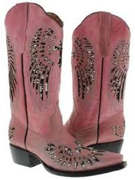 womens size 11 sequin boots cowboy professional s wings with flower pink leather