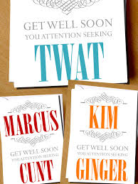 Seeking Card Personalised Get Well Soon You Attention Seeking