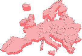 Blank European Map by Clipart European Map 3d