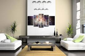 amazon com 5 panel wall art star field in space and a nebulae