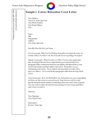 relocation cover letter samples sample cover letters for