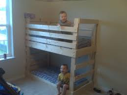 Bedroom  Oak Bunk Bed With Fixed Ladder Twin Size For Kids Solid - Oak bunk beds for kids