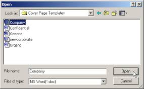 creating cover pages with microsoft word