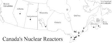 Newfoundland Canada Map by Nuclear Power Reactors In Canada