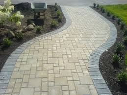 Patio And Walkway Designs by Stone Path Ideas A Stone Walkway Curves Through The Vayo