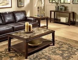 furniture marble coffee table with pattern rug and black leather