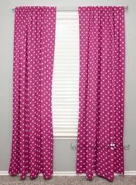 Polka Dot Curtains Nursery Curtain Panel Pink Square C1 Nursery
