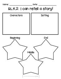 free kindergarten rl k 2 retelling a story worksheet tpt